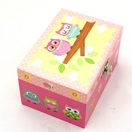 Owl Musical Jewellery Box